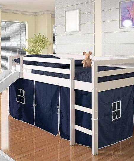 Thomas Twin Bed with Slide and Blue Tent Custom Kids Furniture