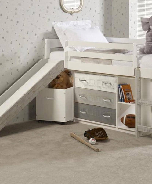 Tyler Loft Bed with Slide and Storage Custom Kids Furniture