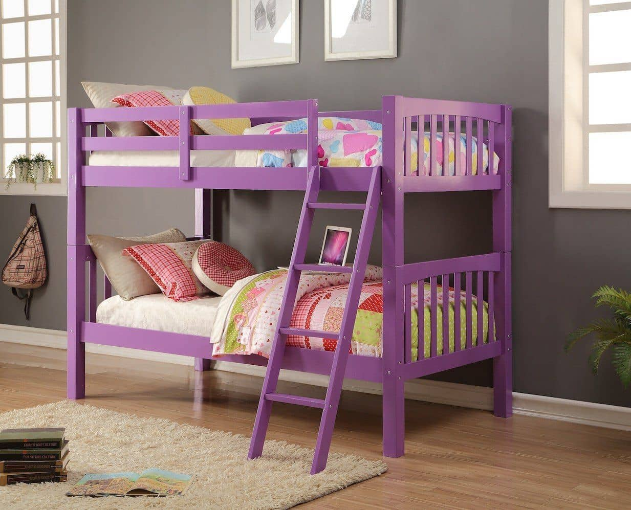 Picture of: Violet Purple Bunk Bed