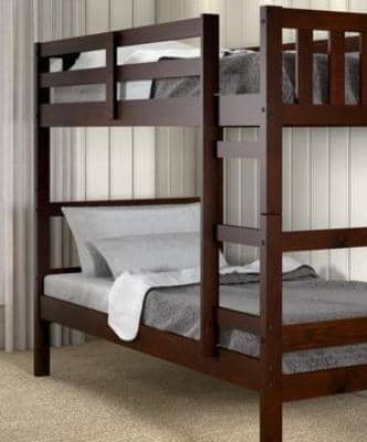 Vivian Cappuccino Twin Bunk Bed Custom Kids Furniture