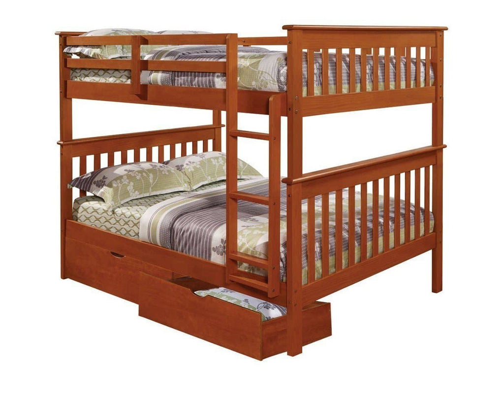 Zachary Full Espresso Bunk Beds for Kids with Storage Custom Kids Furniture