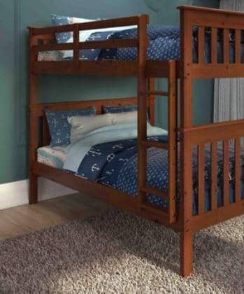 Zachary Full over Full Espresso Bunk Beds Custom Kids Furniture