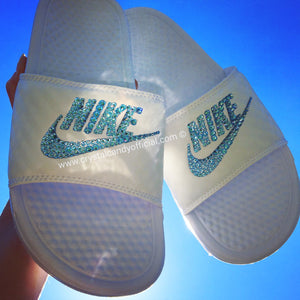 Crystal Nike Benassi Slide Sandals