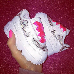 Kids Fully Crystallised Nike Air Max 90's