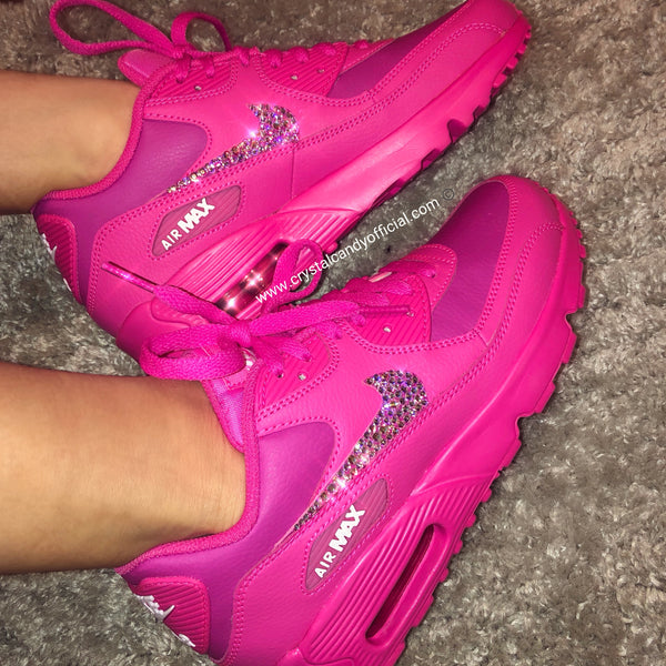Crystal Nike Air Max 90's in Barbie Pink