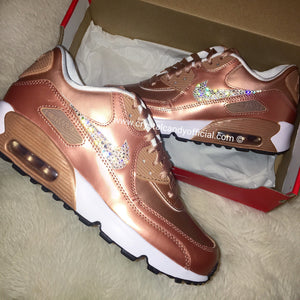 Crystal Nike Air Max 90's in Rose Gold
