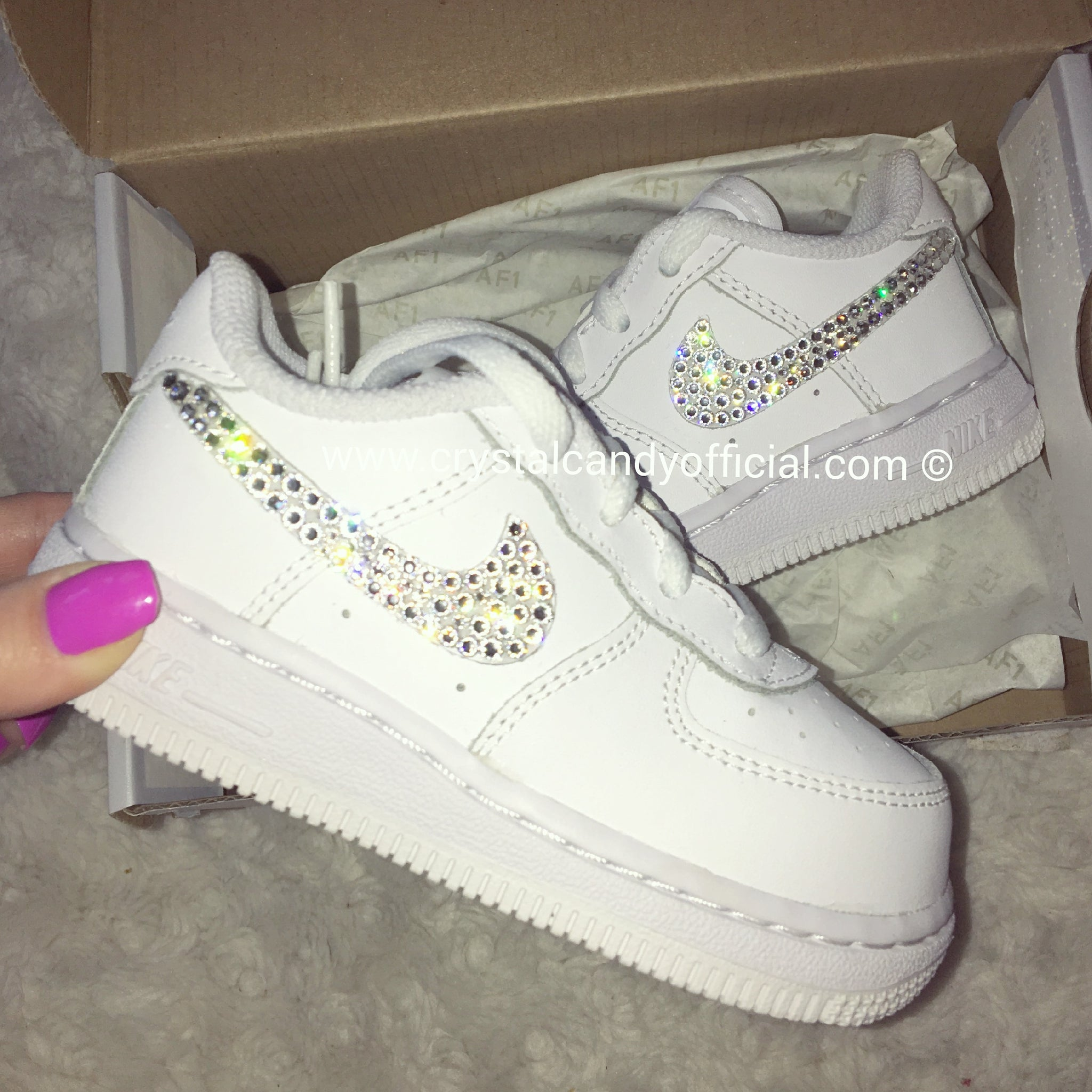Crystal Kids Nike Air Force 1 s (Ticks Only) - Crystal Candy Limited e388801ad3