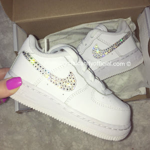 [CUSTOM] Crystal Kids Nike Air Force 1's (Ticks Only)