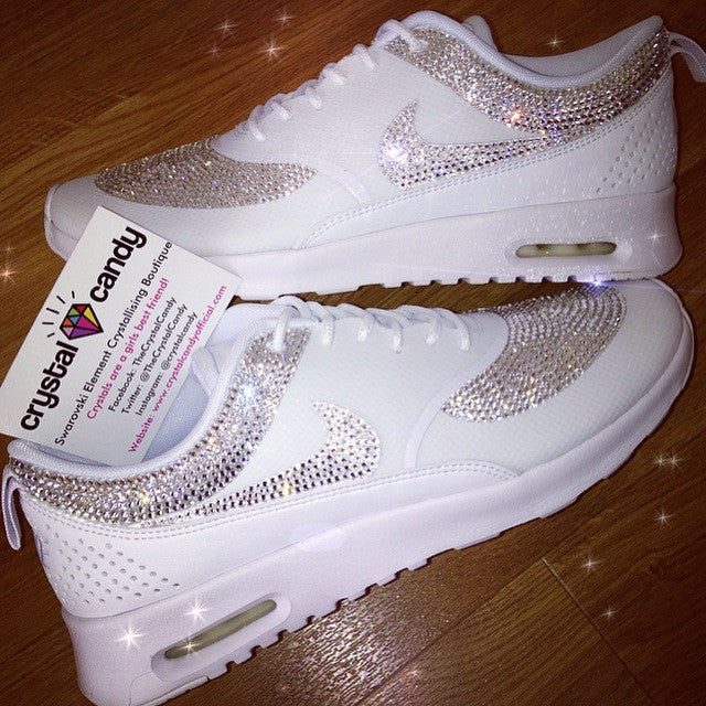 7d0f10da3846 Crystal Nike Thea in White (Fully Crystallised) - Crystal Candy Limited