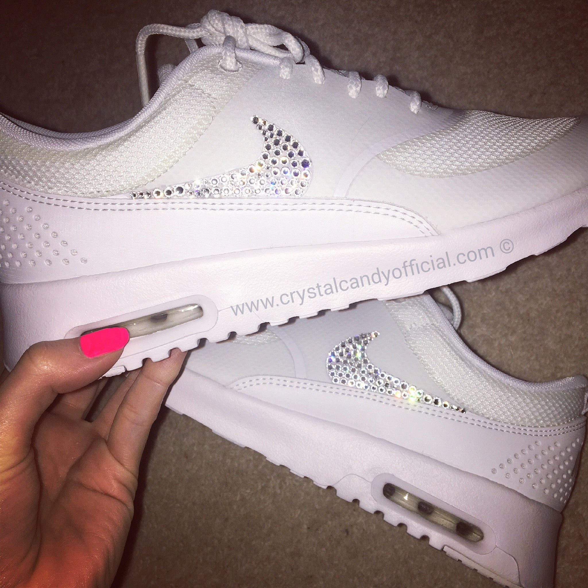 Crystal Nike Thea in White (Ticks Only) ...