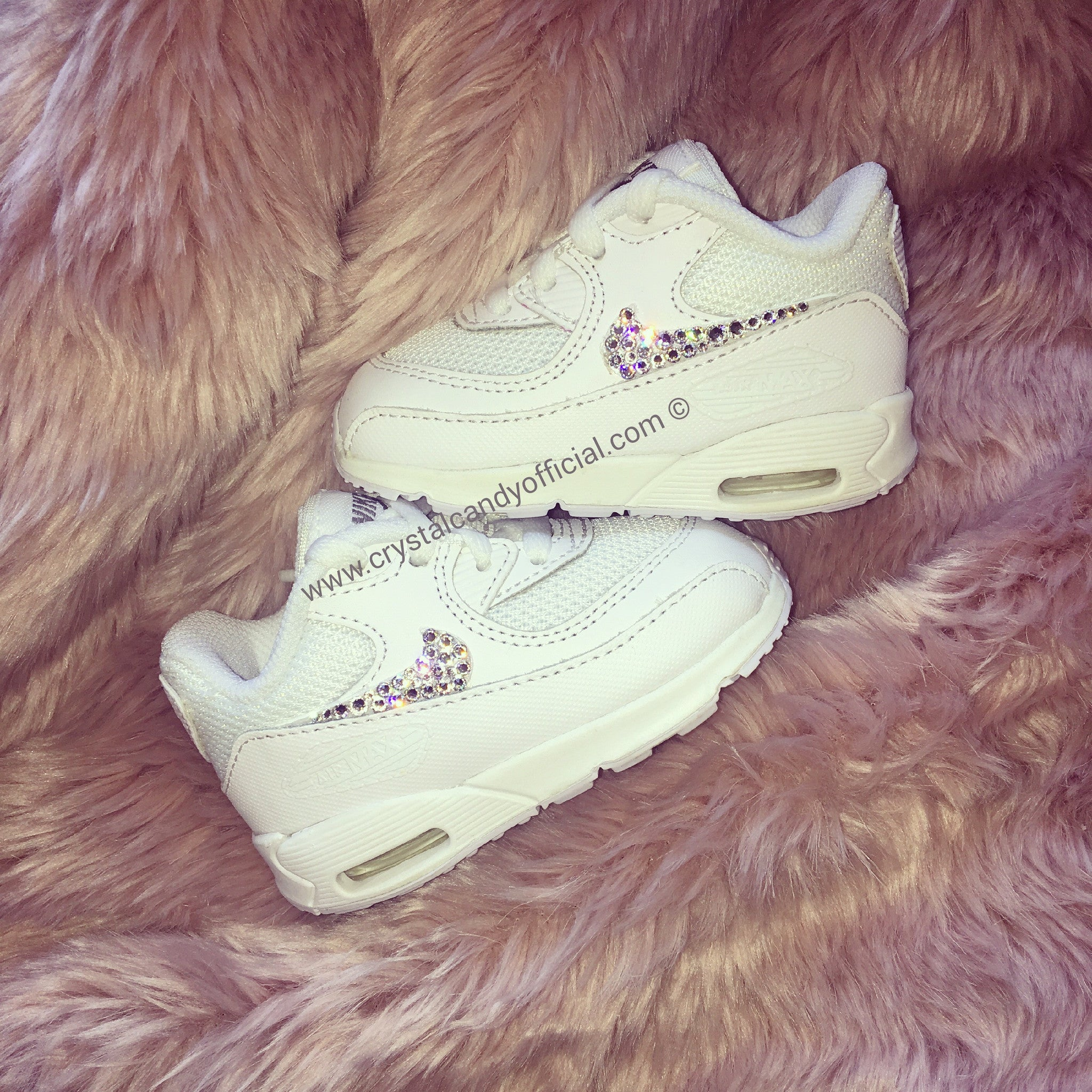 los angeles 08b8d e3fe0 Kids Baby Crystal Nike Air Max 90 s (Ticks Only) - Crystal Candy Limited