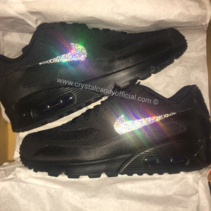 [CUSTOM] Crystal Nike Air Max 90's in Black (Ticks Only)