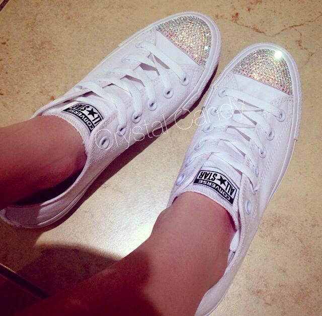 55d5908f927 Crystal Converse in White Mono - Crystal Candy Limited