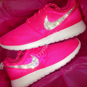 Crystal Nike Roshe Run in Neon Pink