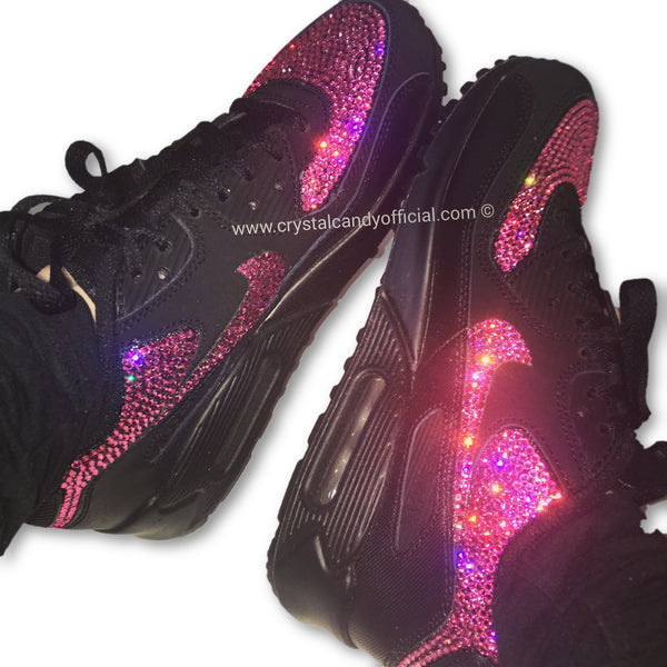 Crystal Nike Air Max 90's in Black (Fully Crystallised)