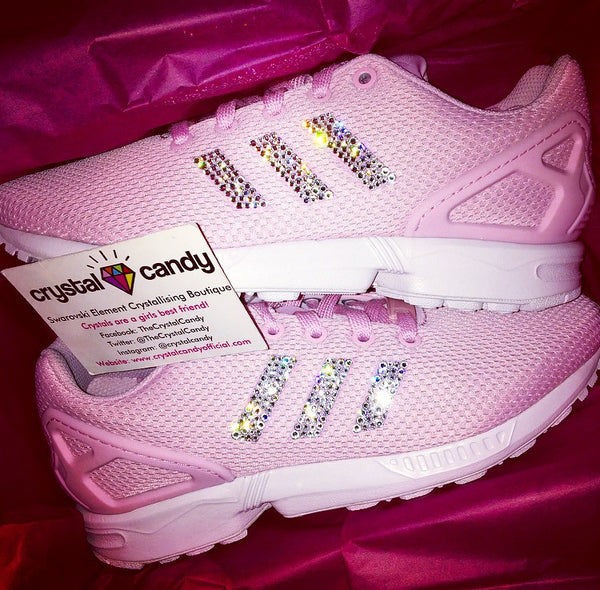 Crystal Adidas Flux in Baby Pink