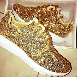 Gold Candy - Glitter Trainers