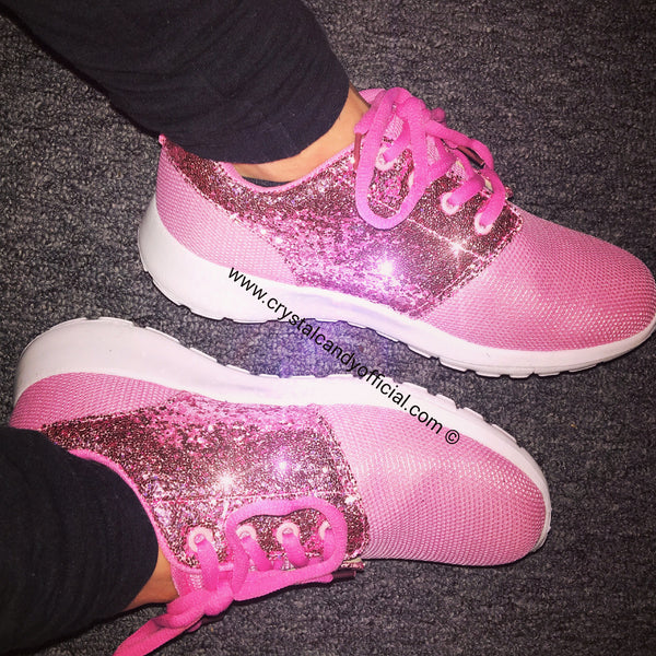 BABY PINK CANDY - GLITTER TRAINERS