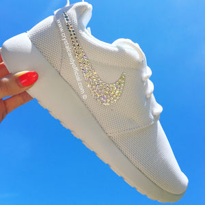 Crystal Nike Roshe Run in White