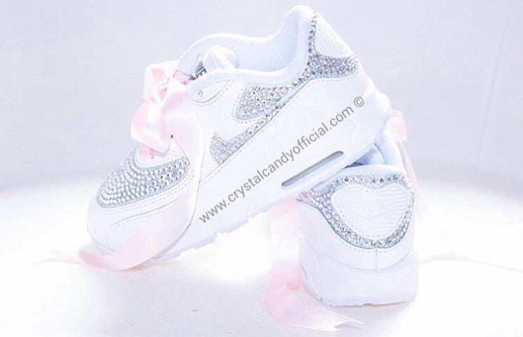 Kids Baby Crystal Nike Air Max 90 (Fully Crystallised) - Crystal ... 73e1db48bd
