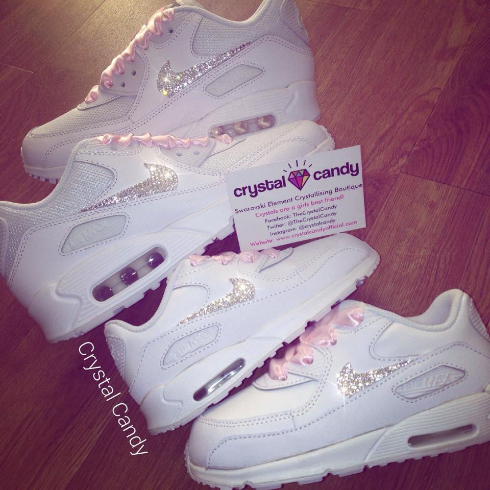 Kids Baby Crystal Nike Air Max 90 s (Ticks Only) - Crystal Candy Limited 01e6a680c51f