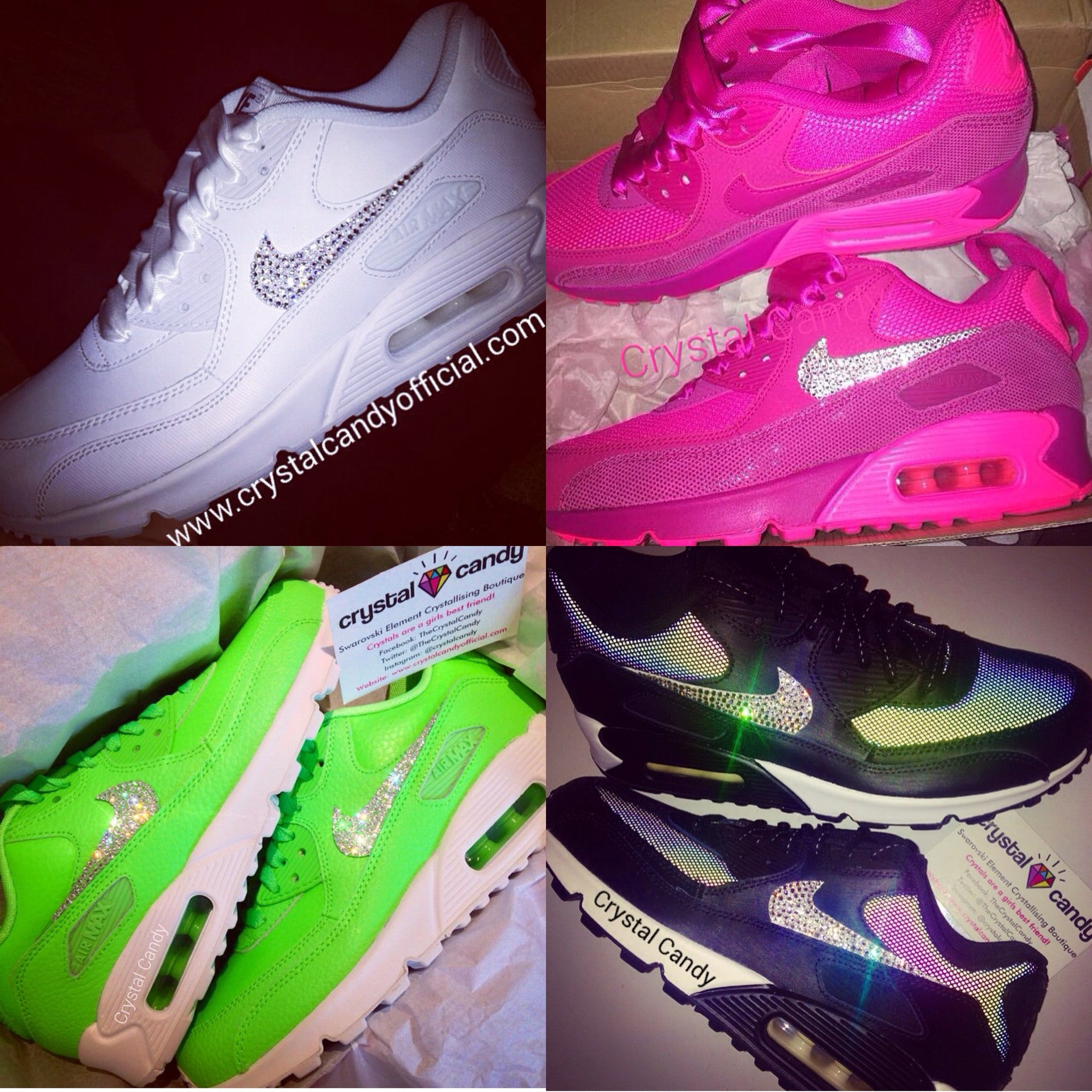 newest 0dede e37a4 Nike Air Max 90 (Ticks Only - Send Us Your Own) - Crystal Candy Limited