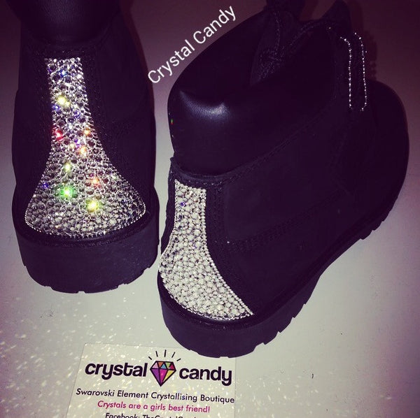 Crystal Timberland in Black