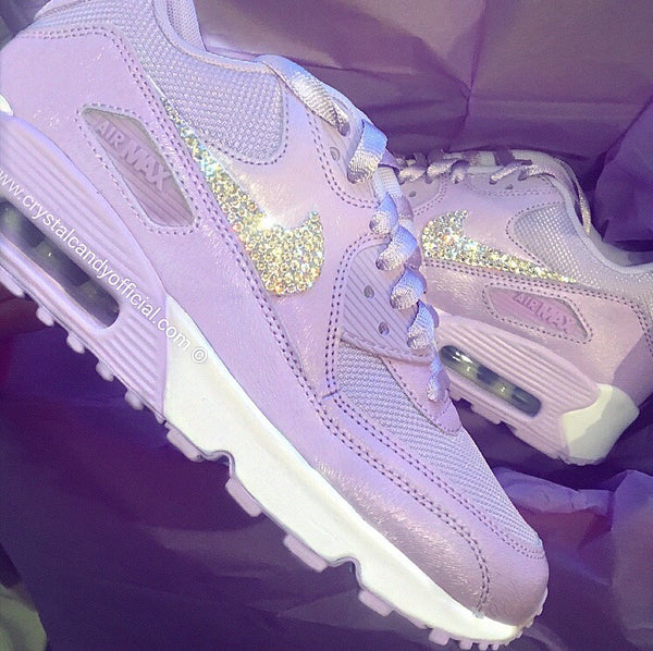 Crystal Nike Air Max 90's in Lilac