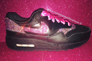Crystal Nike Air Max 1's in Black