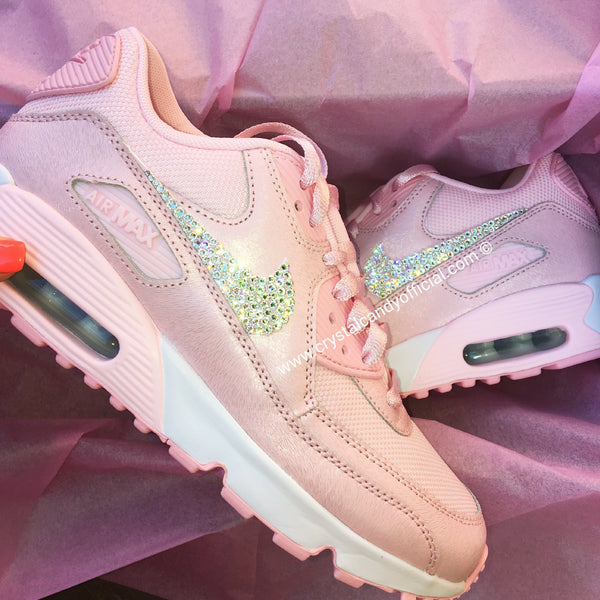 CRYSTAL NIKE AIR MAX 90's IN BABY PINK