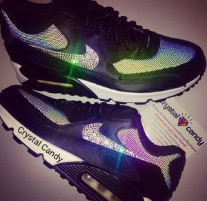 Crystal Nike Air Max 90 in Black (Monochrome Flash)