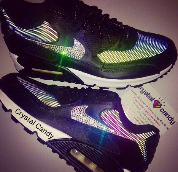 7e59d4ef76e7 Crystal Nike Air Max 90 in Black (Monochrome Flash)