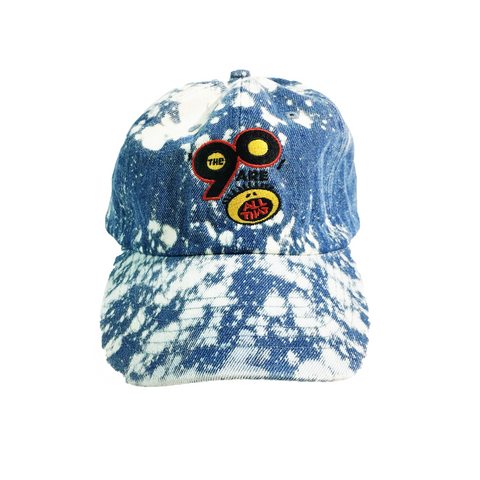 "Tie Dye Denim ""90s All That"" DAD HAT"