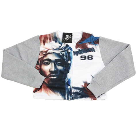 Ambitionz Tupac Crop Jersey Sweater - Pre Order