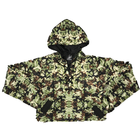 Rose Camo Crop Windbreaker
