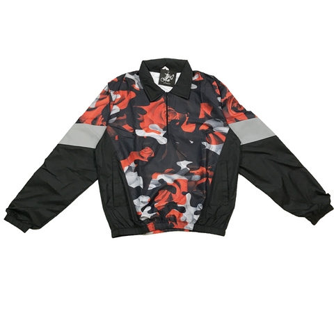 Orange Camo Rose Windbreaker