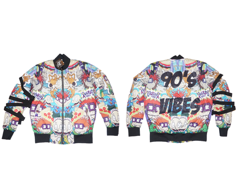 Rugrats 90's Vibes Bomber Jacket