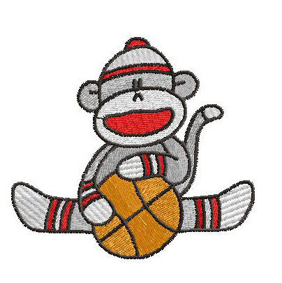 Basketball Sock Monkeys
