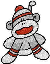Baby Boy Sock Monkeys