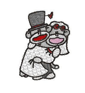 Wedding Sock Monkeys