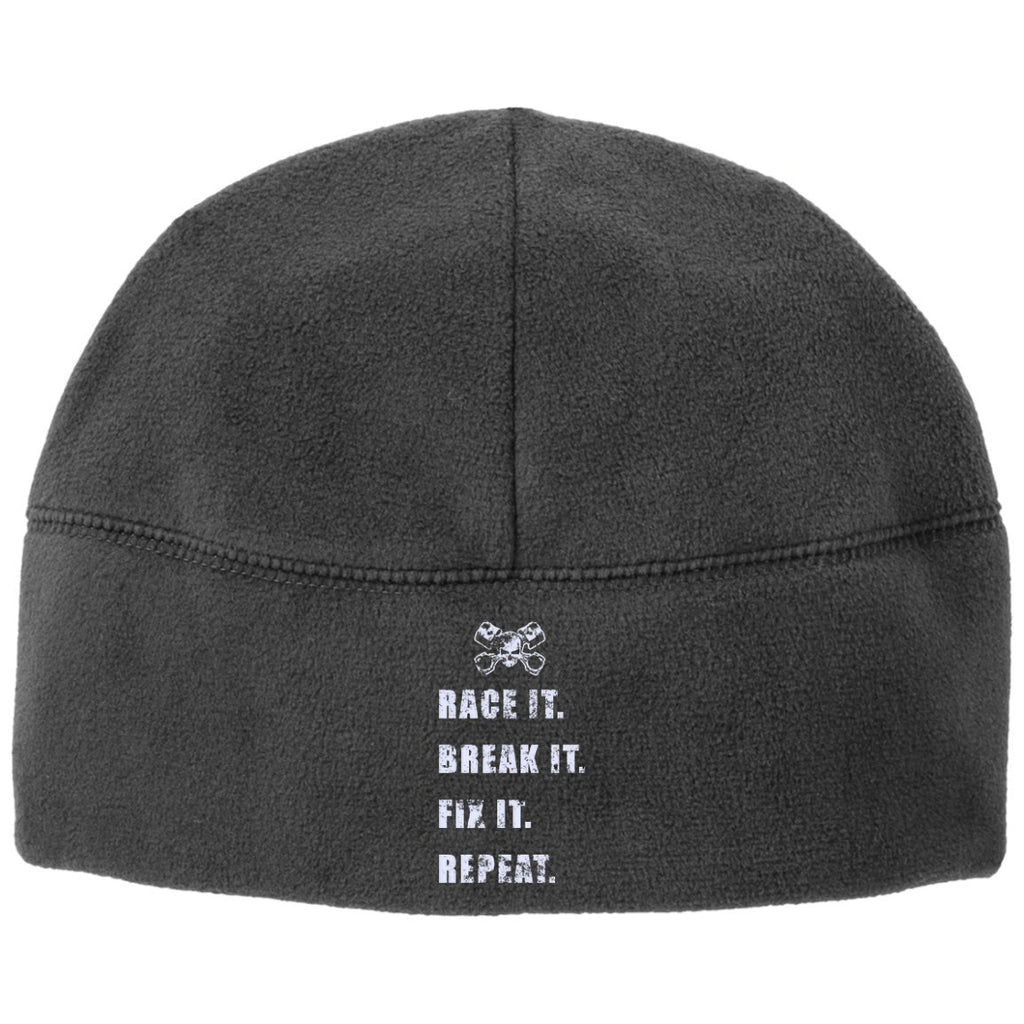 Hats - Race It Break It Fix It Clean Fleece Beanie