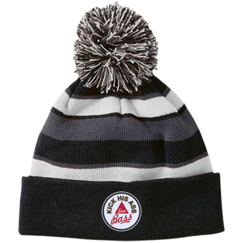 Hats - Seabass2 Striped Beanie With Pom