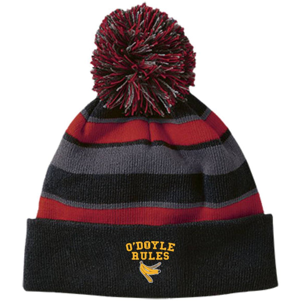 Hats - Sweep The Leg Odyle Striped Beanie With Pom