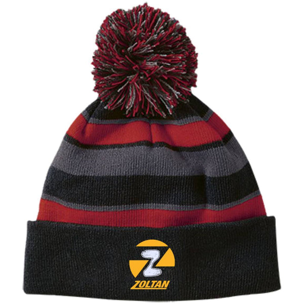 Hats - Zoltan Striped Beanie With Pom