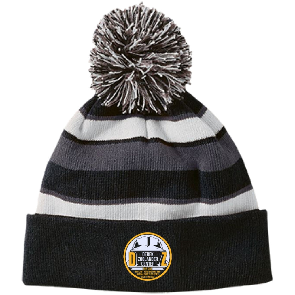Hats - Zoolander Center Striped Beanie With Pom