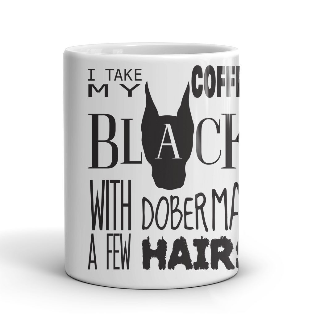Mugs - Doberman Mug - A