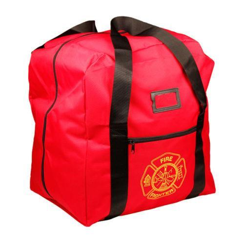 NEW Red Firefighter Step-in Turnout Fire Gear Bag With Maltese Cross
