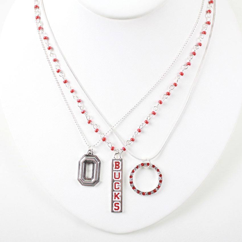 Ohio State Trio Necklace COHNT