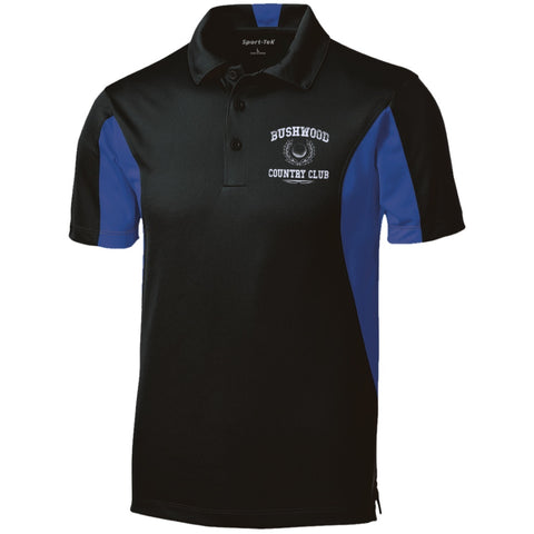 Polo Shirts - Caddyshack - EMBROIDERED Bushwood Country Club -Tall Colorblock Performance Polo