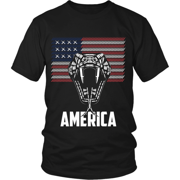 Bullet Viper and Flag - America - Front Design